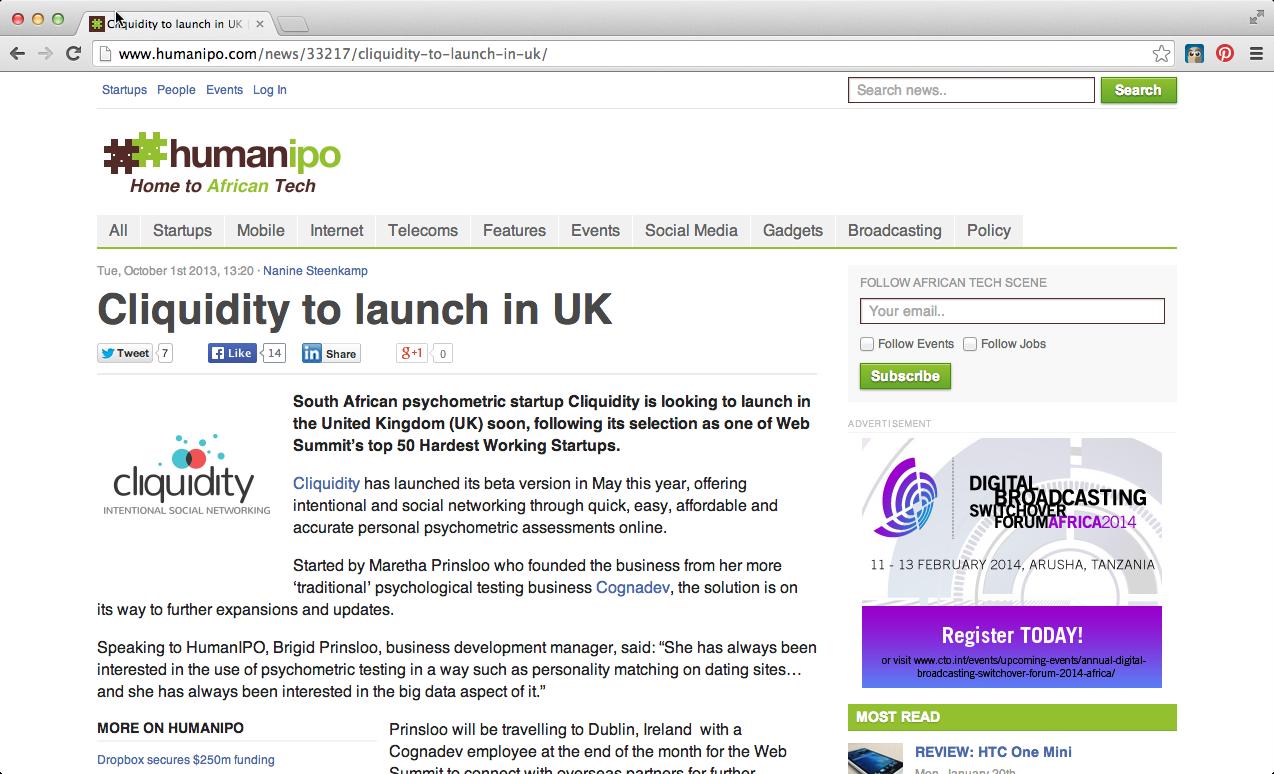 Cliquidity HumanIPO 20131001